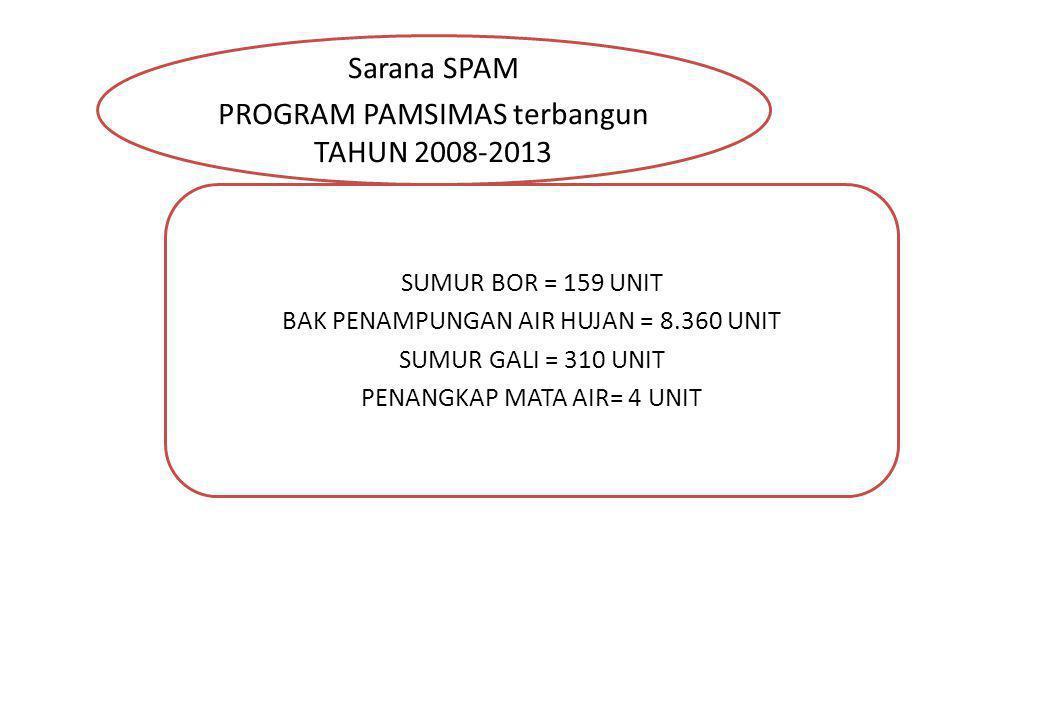 PROGRAM PAMSIMAS terbangun TAHUN 2008-2013