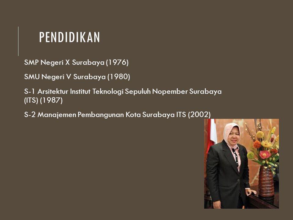 Pendidikan SMP Negeri X Surabaya (1976) SMU Negeri V Surabaya (1980)