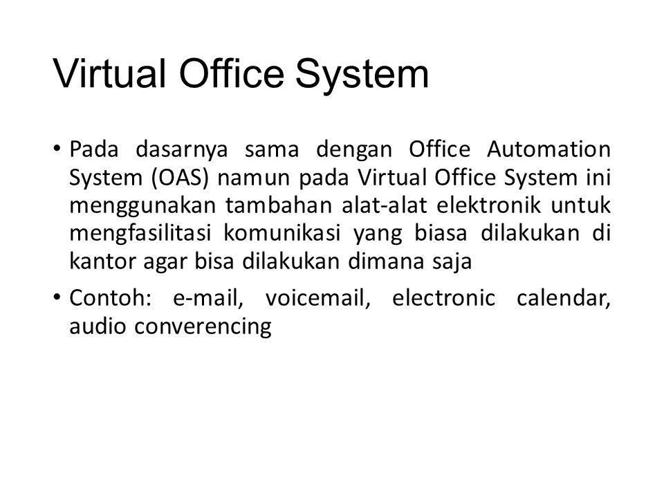 Virtual Office System