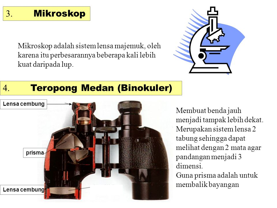 4. Teropong Medan (Binokuler)