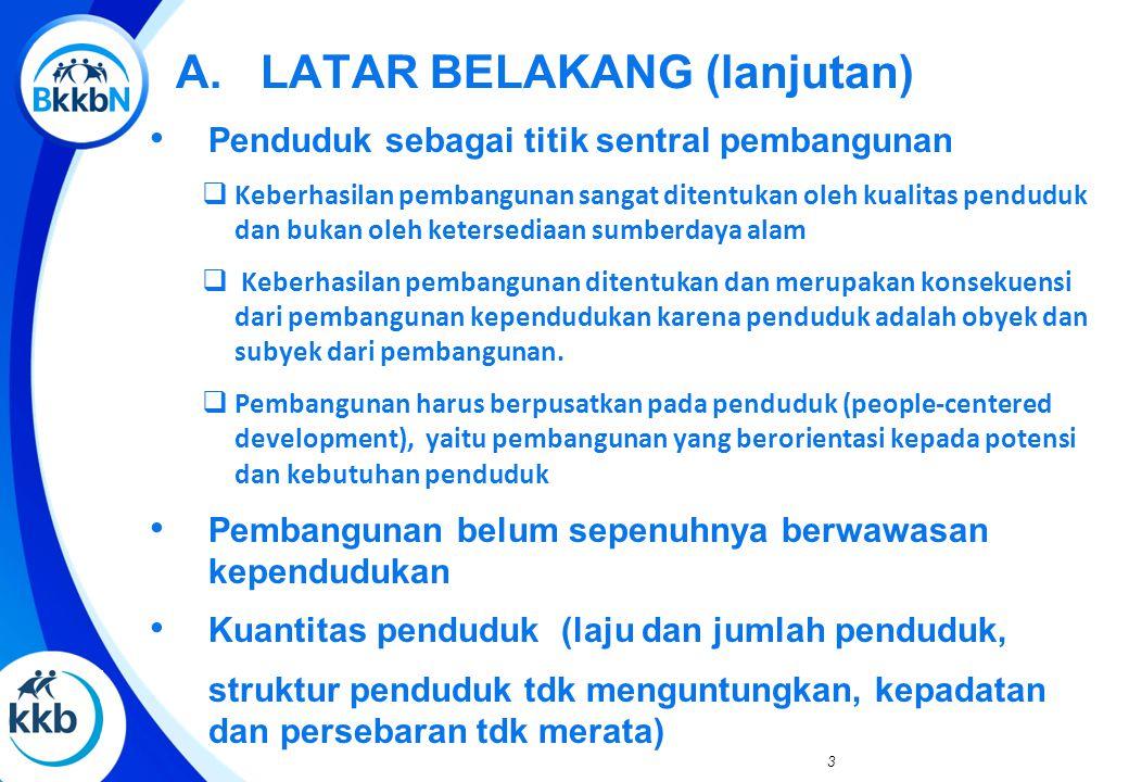 B. SITUASI KEPENDUDUKAN INDONESIA YANG KURANG MENGUNTUNGKAN