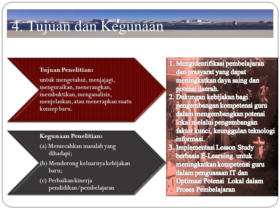 4. Tujuan dan Kegunaan Kegunaan Penelitian: Tujuan Penelitian: