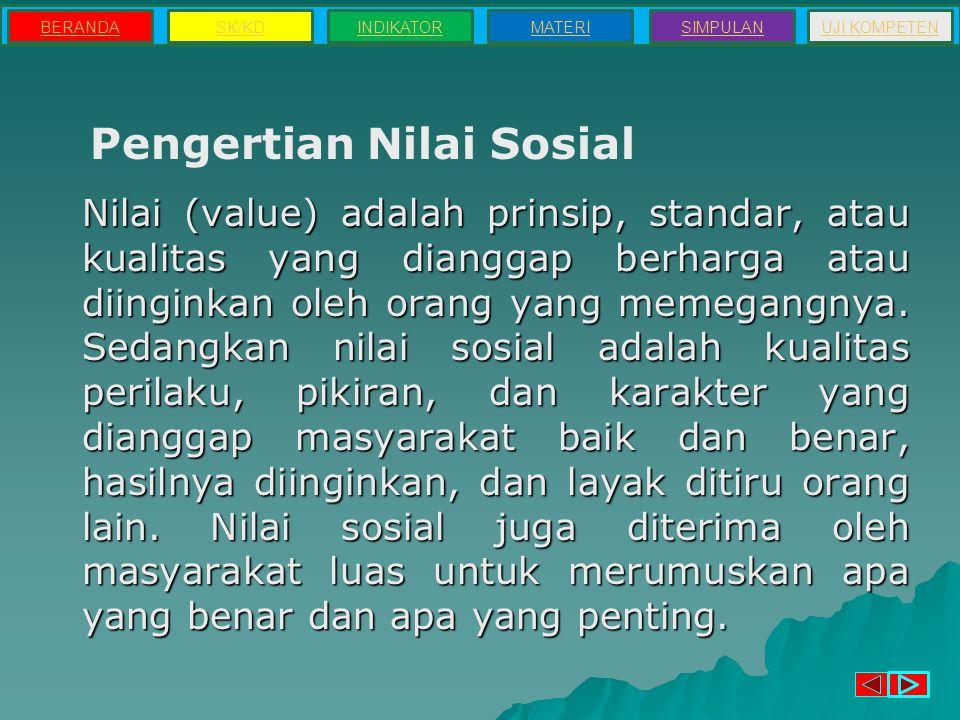 Pengertian Nilai Sosial