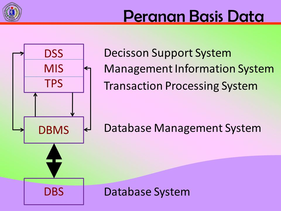 Peranan Basis Data DSS MIS TPS Decisson Support System