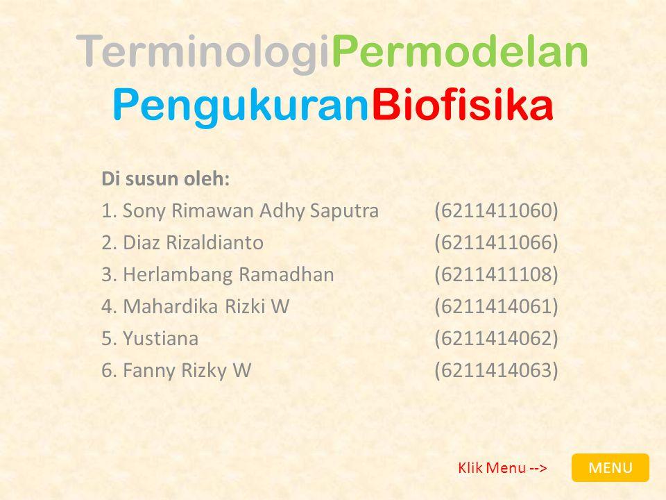 TerminologiPermodelan PengukuranBiofisika
