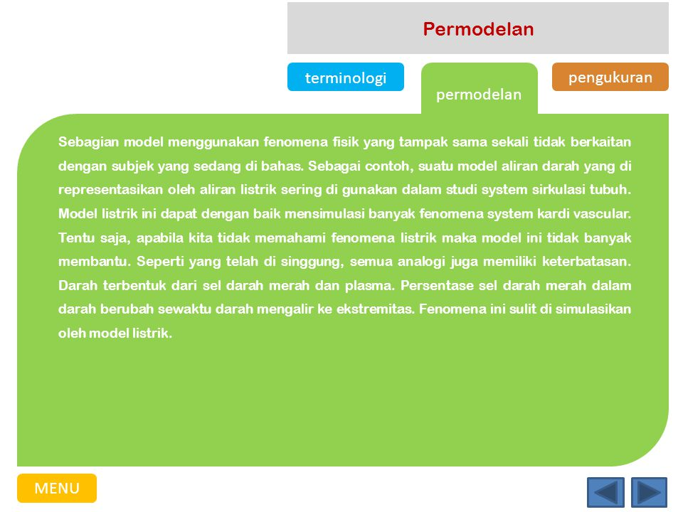 Permodelan terminologi pengukuran permodelan MENU