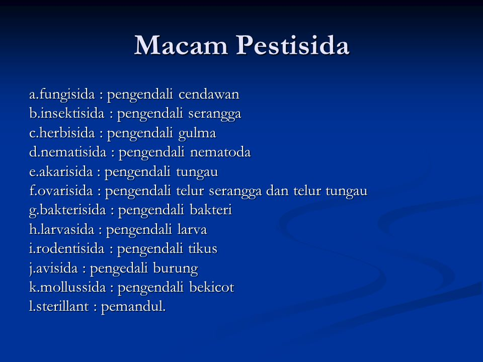 Macam Pestisida a.fungisida : pengendali cendawan