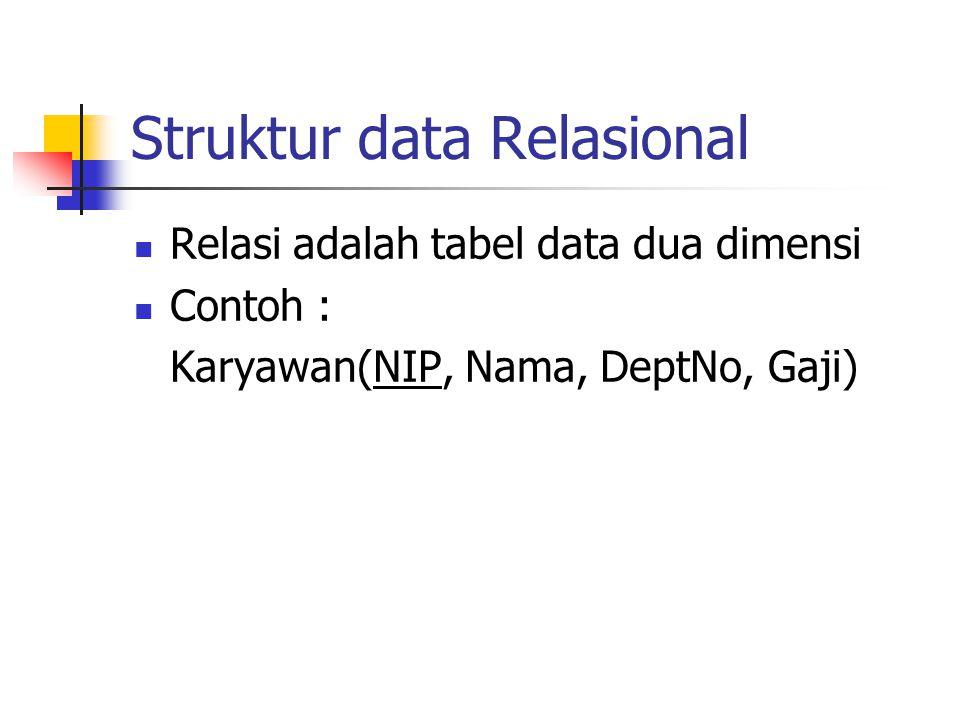 Struktur data Relasional