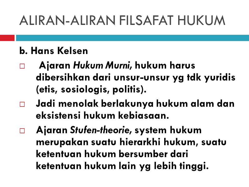 ALIRAN-ALIRAN FILSAFAT HUKUM