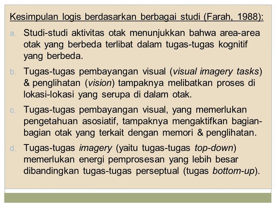 Kesimpulan logis berdasarkan berbagai studi (Farah, 1988):