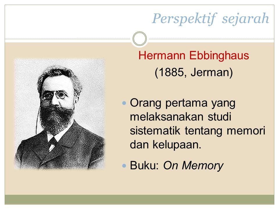 Perspektif sejarah Hermann Ebbinghaus (1885, Jerman)