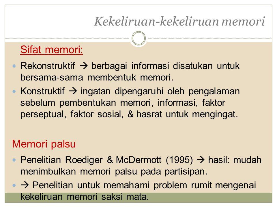 Kekeliruan-kekeliruan memori