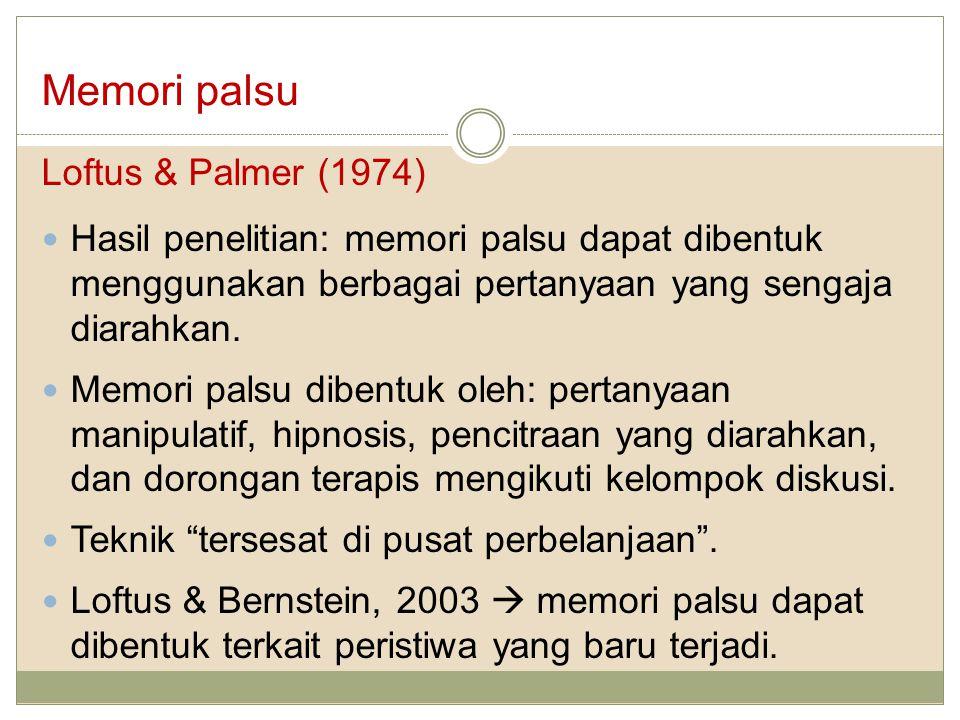 Memori palsu Loftus & Palmer (1974)