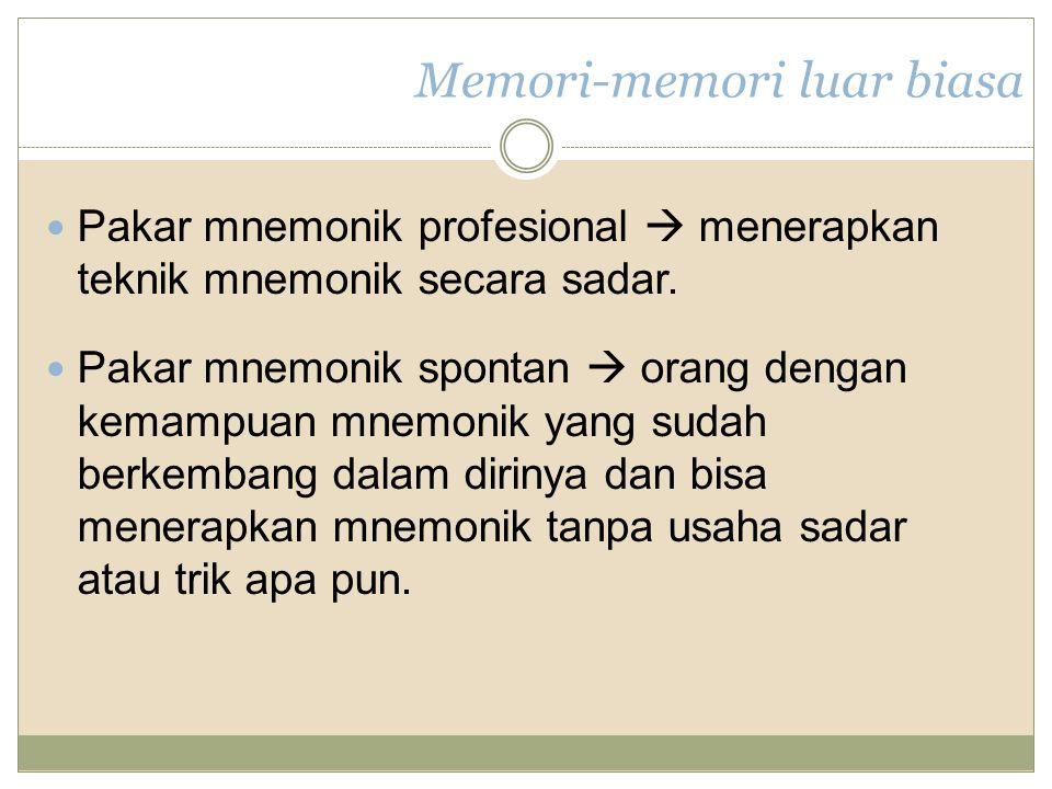 Memori-memori luar biasa
