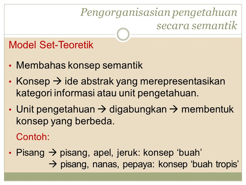 Pengorganisasian pengetahuan secara semantik