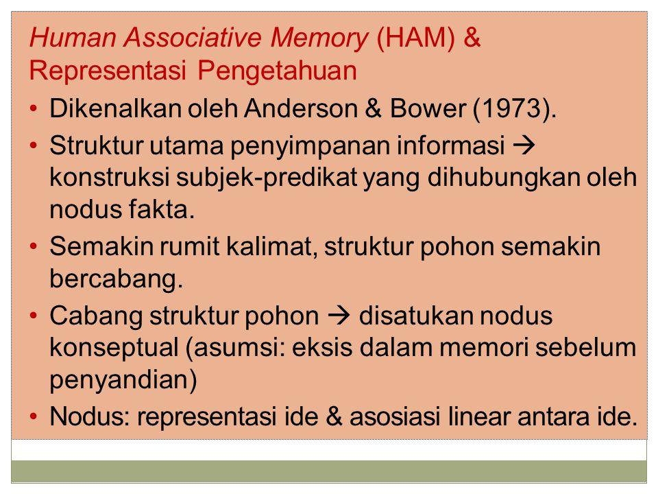 Human Associative Memory (HAM) & Representasi Pengetahuan