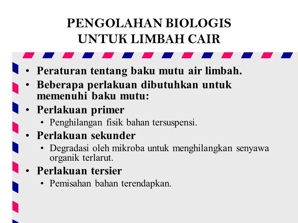 PENGOLAHAN BIOLOGIS UNTUK LIMBAH CAIR