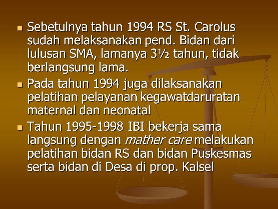 Sebetulnya tahun 1994 RS St. Carolus sudah melaksanakan pend