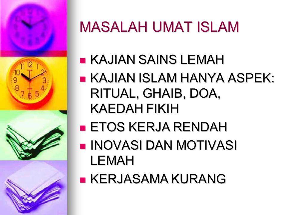 MASALAH UMAT ISLAM KAJIAN SAINS LEMAH