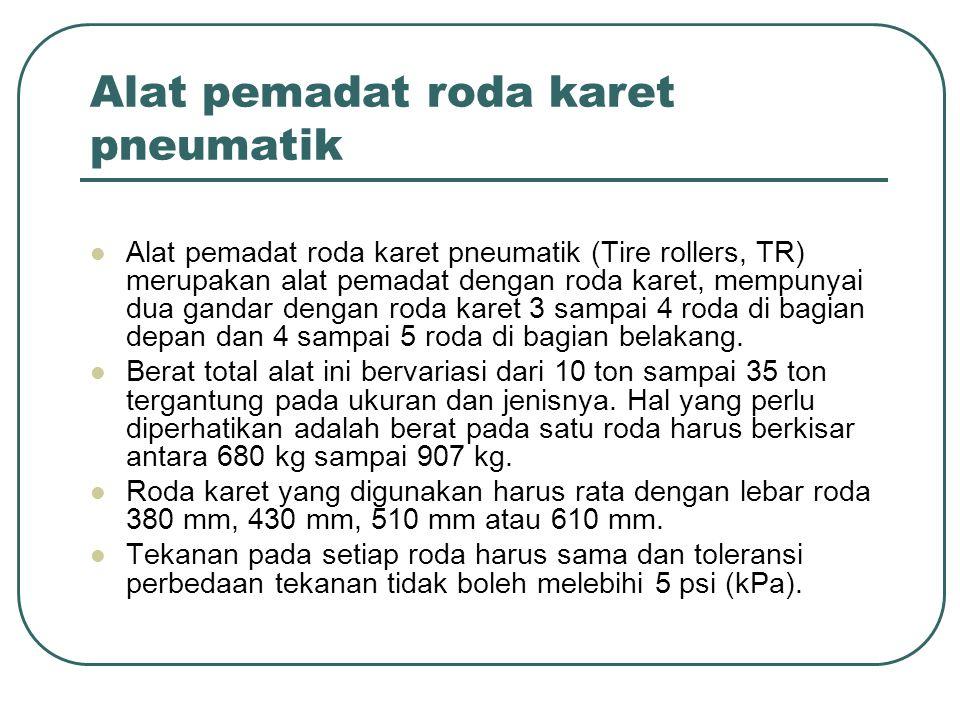 Alat pemadat roda karet pneumatik