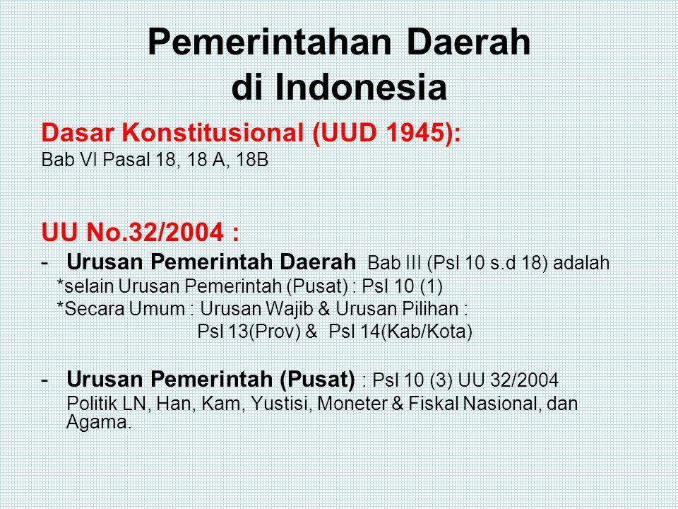 Pemerintahan Daerah di Indonesia