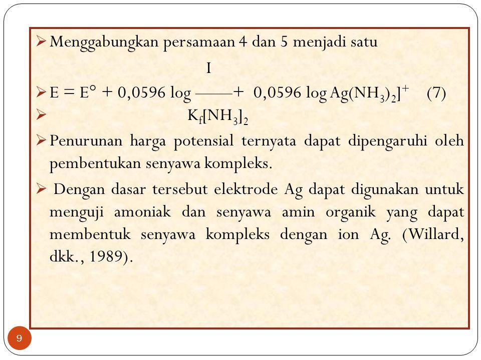 Menggabungkan persamaan 4 dan 5 menjadi satu