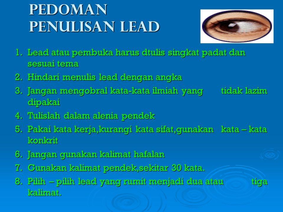 Pedoman penulisan lead