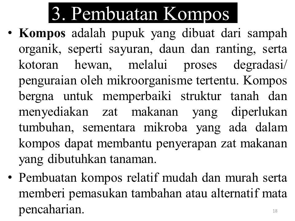 3. Pembuatan Kompos