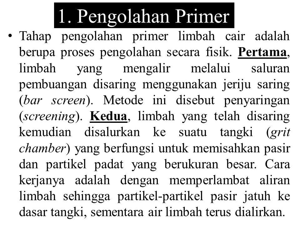 1. Pengolahan Primer