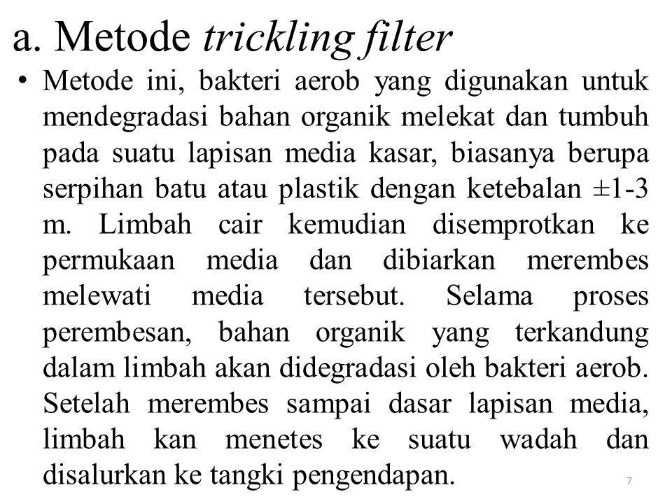 a. Metode trickling filter