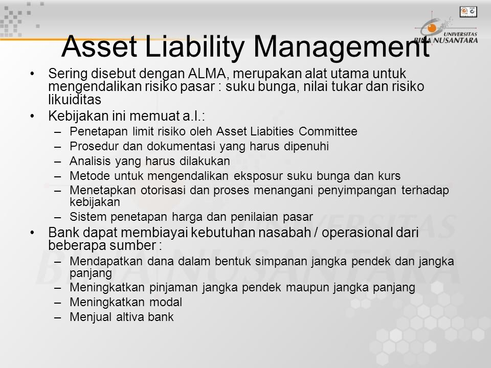 Asset Liability Management
