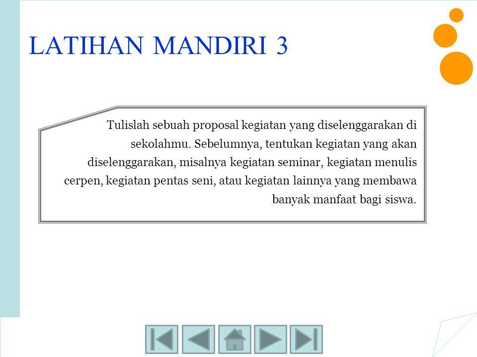 LATIHAN MANDIRI 3