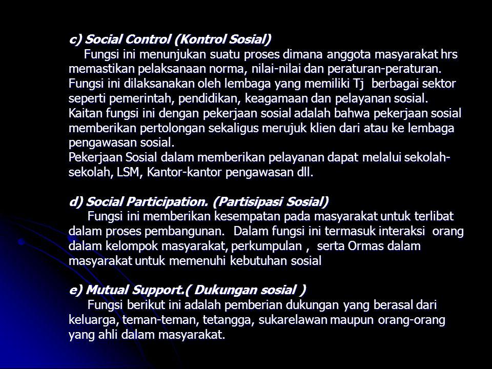 Social Control (Kontrol Sosial)