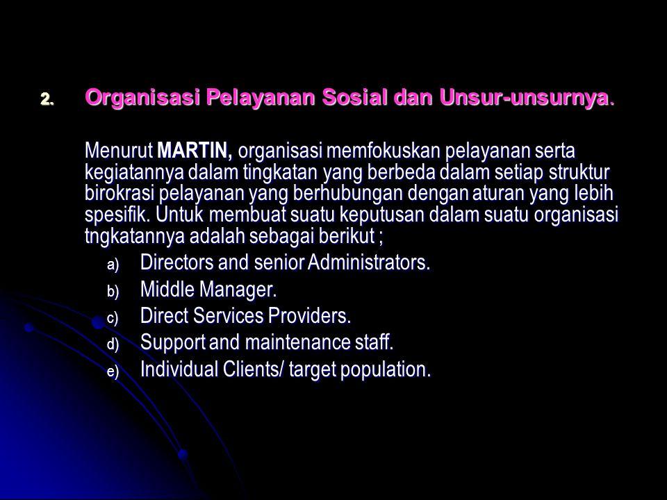 Organisasi Pelayanan Sosial dan Unsur-unsurnya.