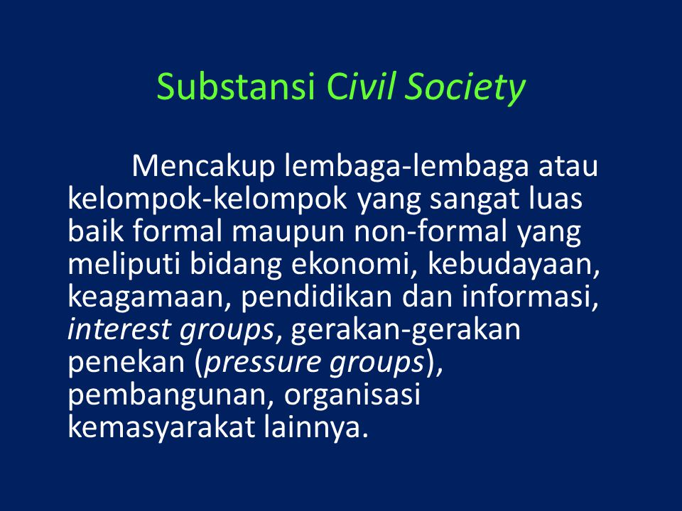Substansi Civil Society