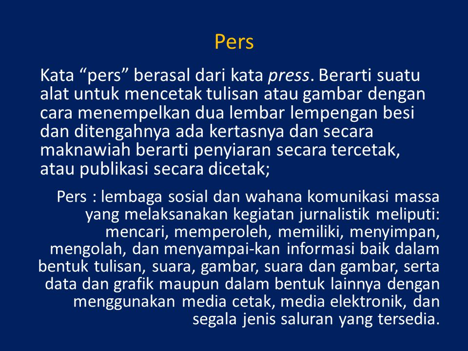 Pers
