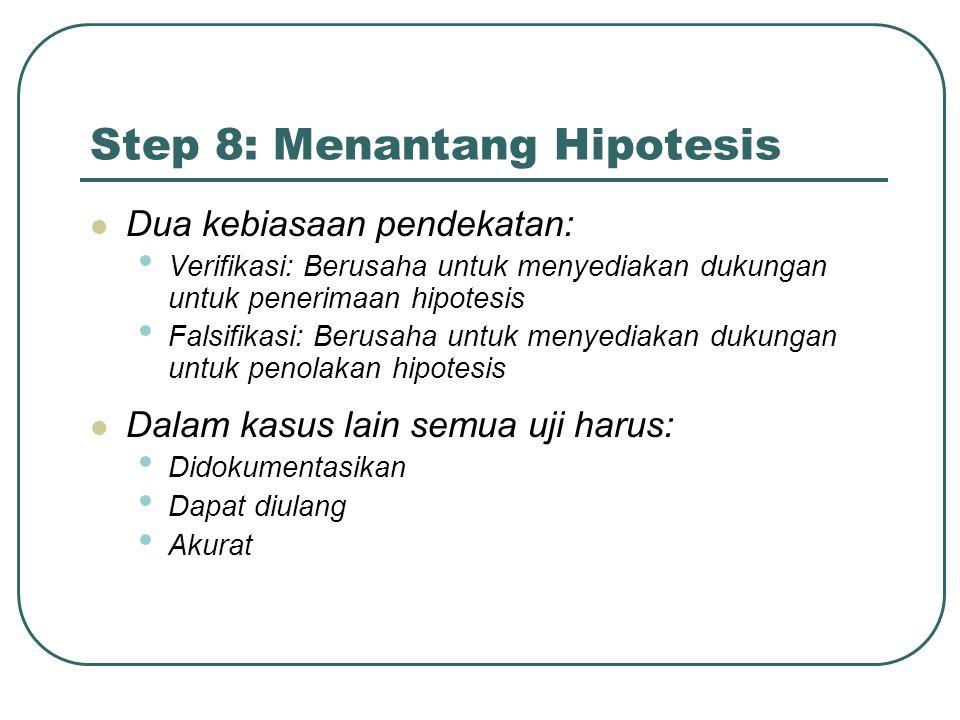 Step 8: Menantang Hipotesis