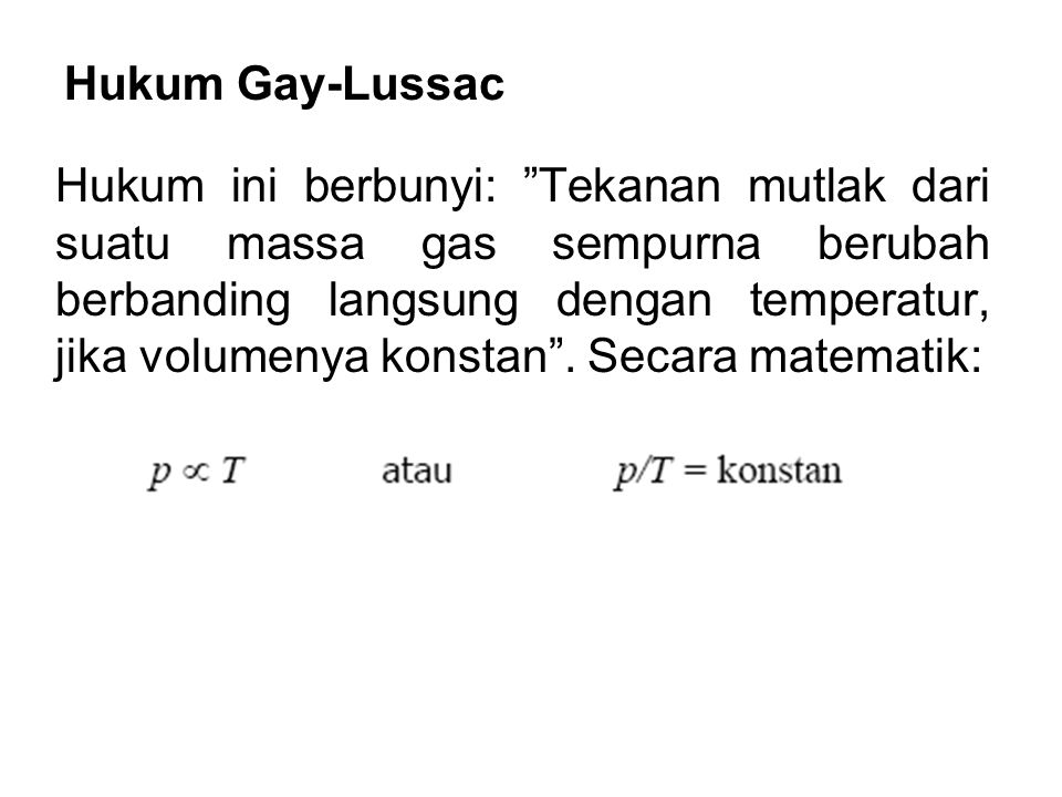 Hukum Gay-Lussac