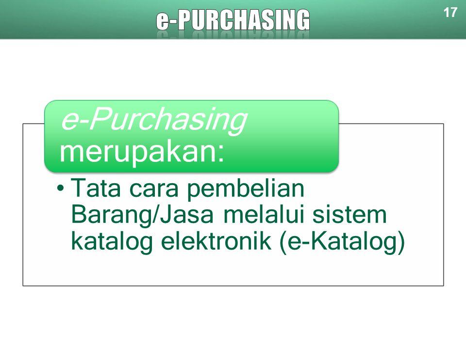 e-purchasing 17.