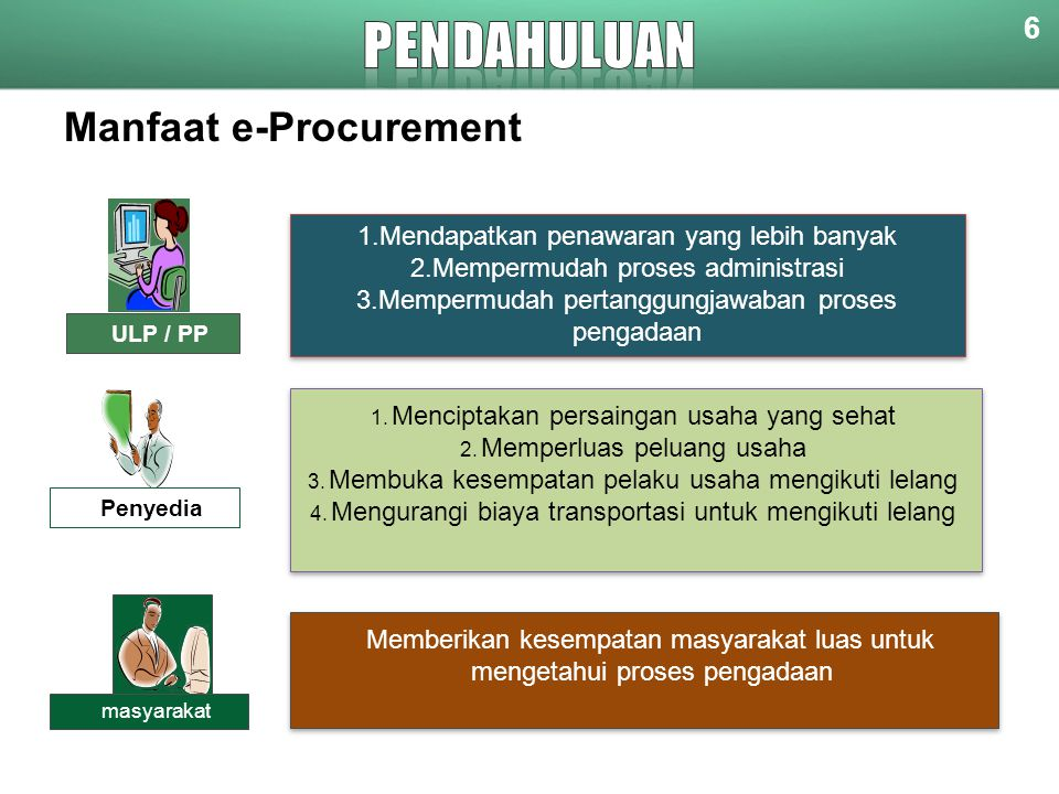 PENDAHULUAN Manfaat e-Procurement 6