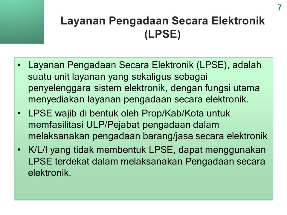 Layanan Pengadaan Secara Elektronik (LPSE)