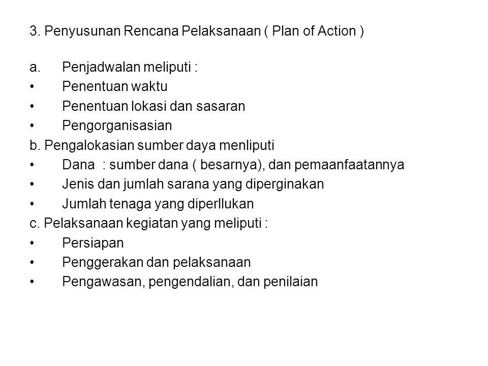 3. Penyusunan Rencana Pelaksanaan ( Plan of Action )