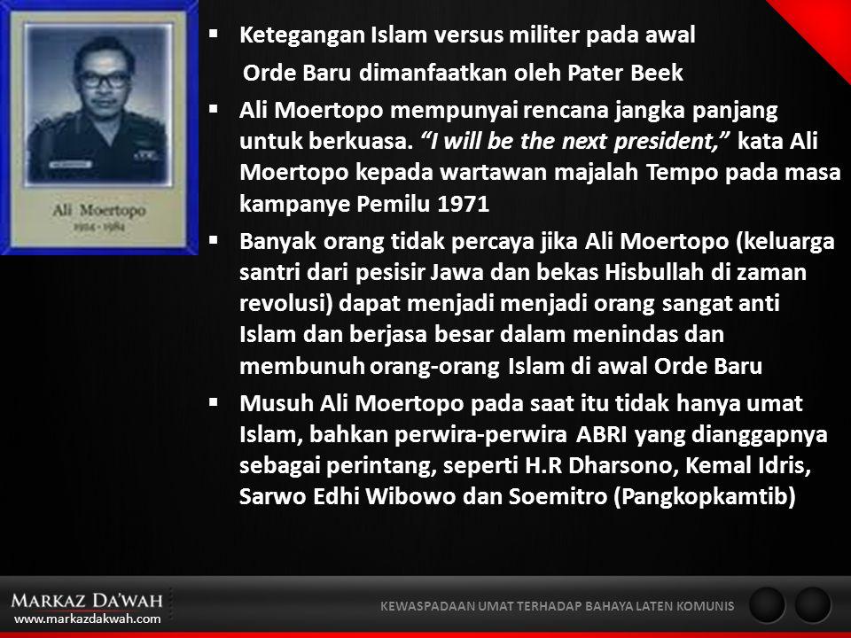 Ketegangan Islam versus militer pada awal