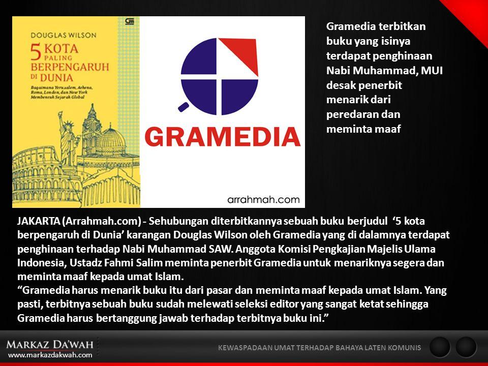 Gramedia terbitkan buku yang isinya terdapat penghinaan Nabi Muhammad, MUI desak penerbit menarik dari peredaran dan meminta maaf