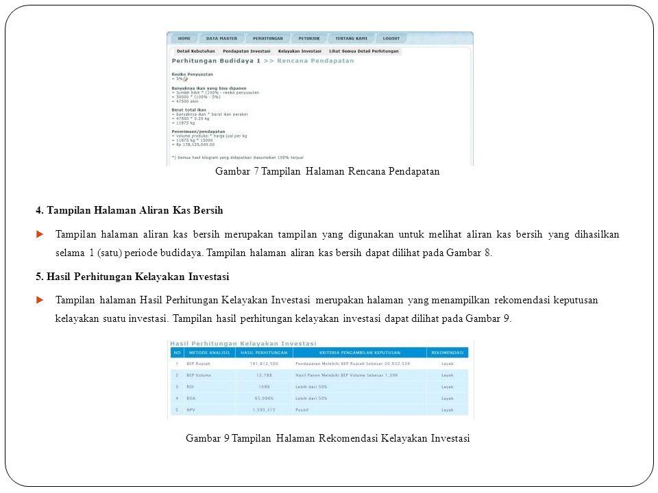 Gambar 7 Tampilan Halaman Rencana Pendapatan