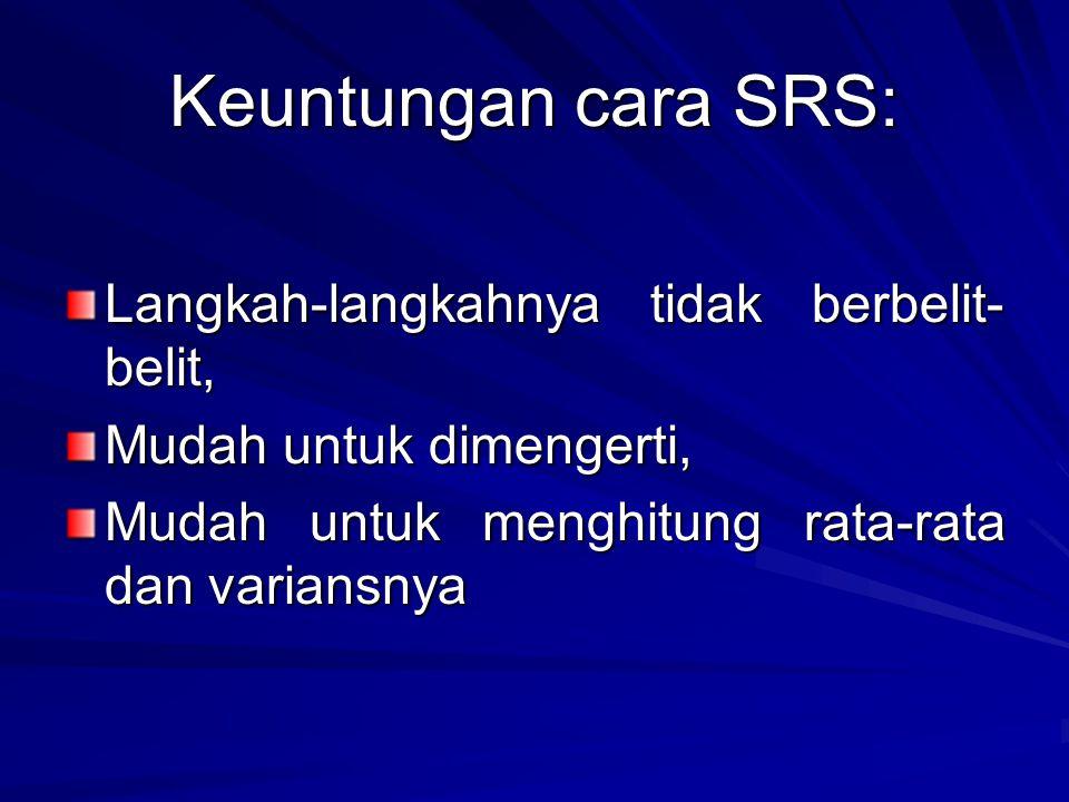 Keuntungan cara SRS: Langkah-langkahnya tidak berbelit-belit,