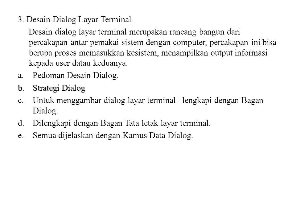 3. Desain Dialog Layar Terminal