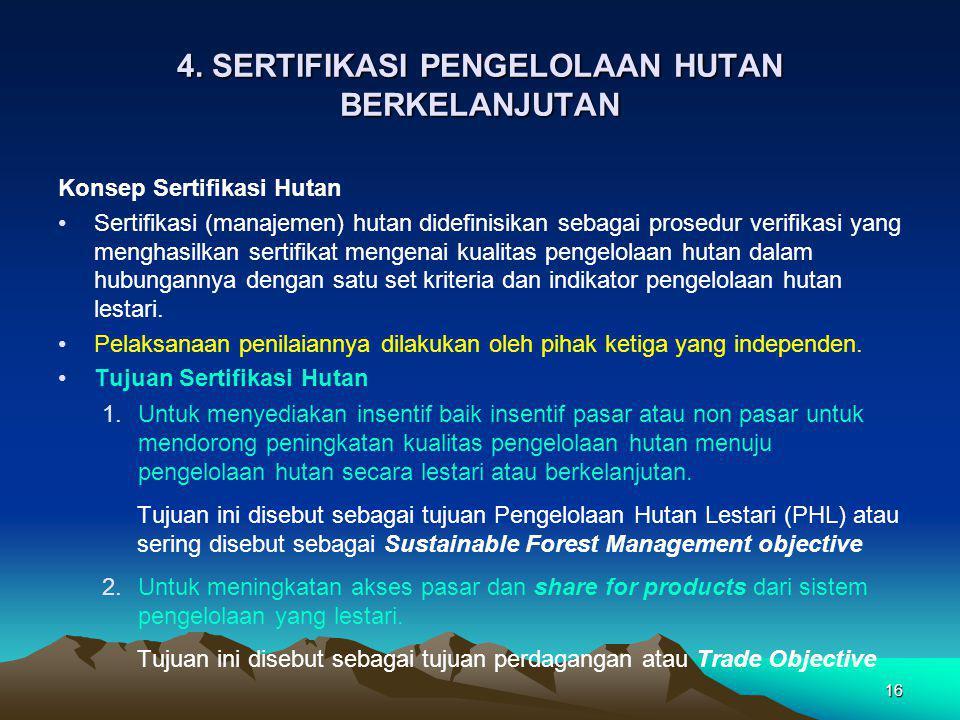 4. SERTIFIKASI PENGELOLAAN HUTAN BERKELANJUTAN