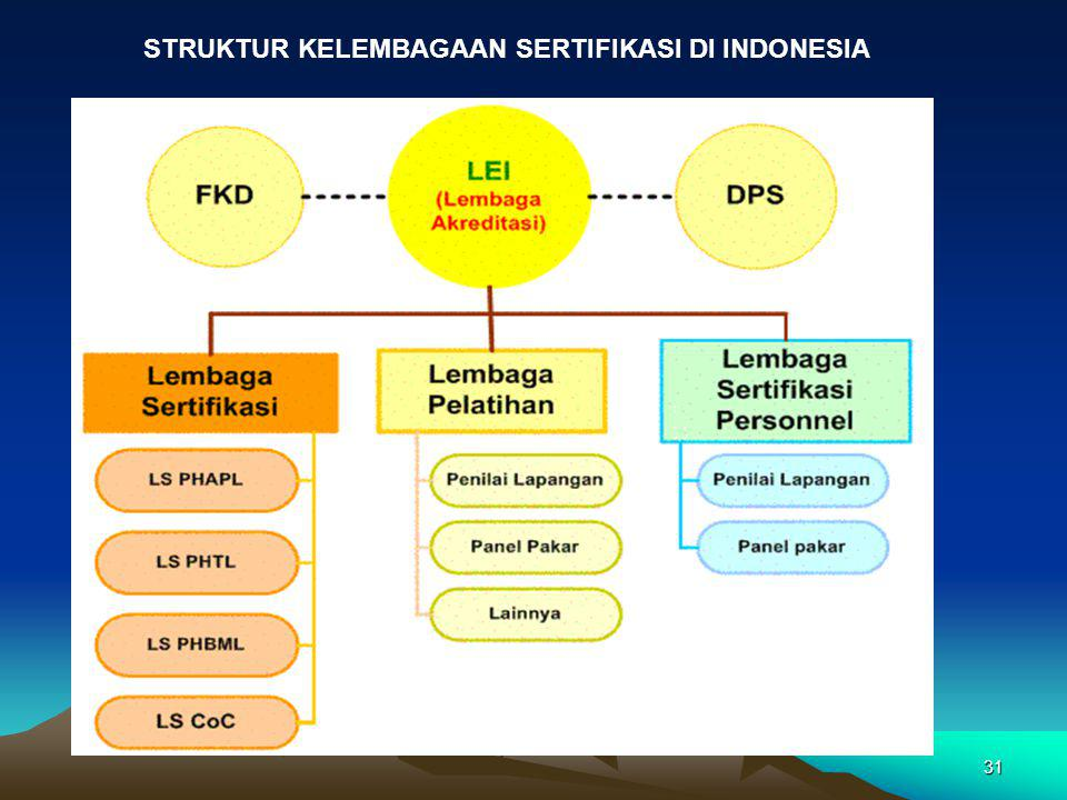 STRUKTUR KELEMBAGAAN SERTIFIKASI DI INDONESIA
