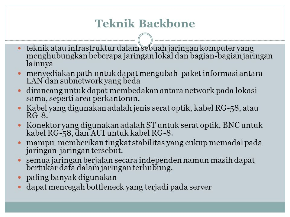 Teknik Backbone